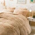 Frete grátis Kojah veludo saia da cama/lençol da cama conjunto de quatro peças terno caso capa de edredão travesseiro fleece 100% genuína venda