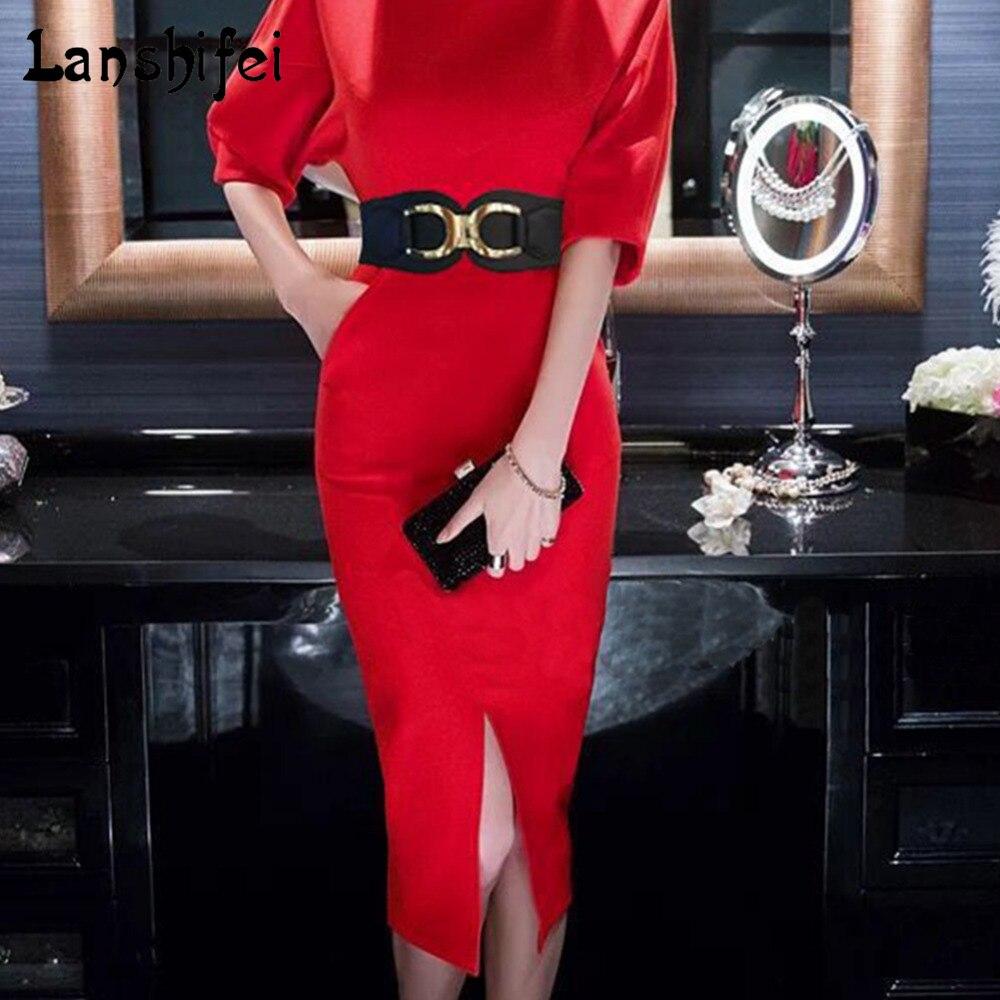 New Fashion Korean Style Buckle Elastic Wide Belt Wide Cummerbund Strap Waist Female Women Accessories PU Elastic Cummerbund