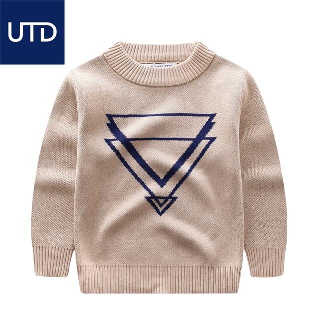 Novo menino de algodão camisola padrão geométrico impressão primavera camisola das crianças 2-8 anos de idade as crianças camisola ocasional