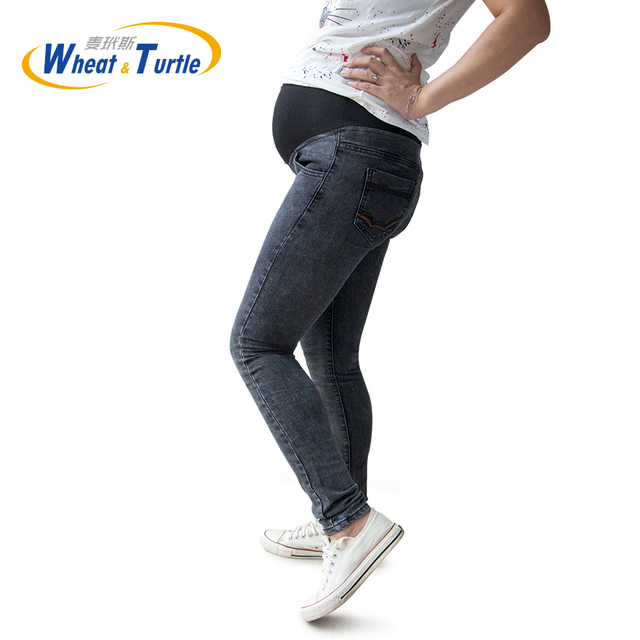 2016 Venda Quente Boa Qualidade de Algodão Denim Jeans Maternidade Jeans Ajustável Todo o Jogo E Todas As Estações Adequado Para As Mulheres Grávidas