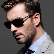 Aoron polarizadas diseñador de la marca de la vendimia gafas de sol hombres de conducción gafas de sol de los hombres uv400 gafas accesorios gafas gafas de sol 8177