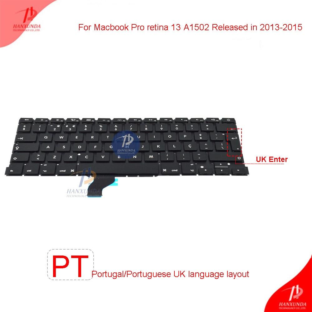 "Apple MacBook Pro Retina 13/"" A1502 ME864 ME865 ME866 TASTIERA UK 2013-2015"