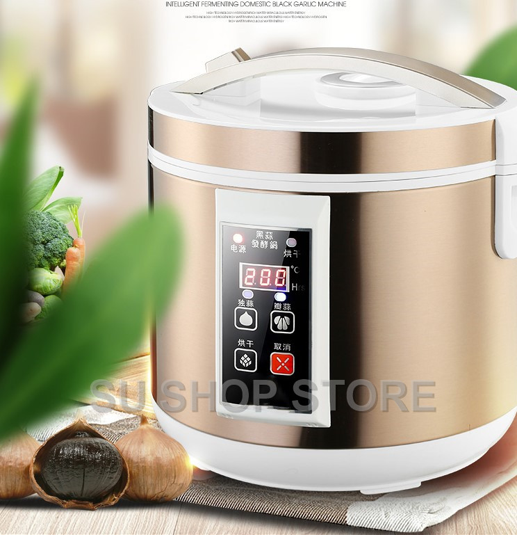 5L / 6L Automatic Black Garlic Fermenter Household DIY Zymolysis Pot Maker 110V 220V Black Garlic Fermenting Machine EU US AU UK
