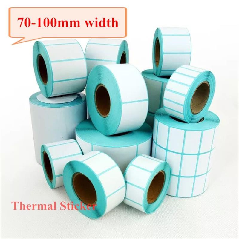 70-100mm Width, ECO Thermal Label Sticker, One Rolls, Direct Print Label Roll For Zebra/Godex/TSC/Xprinter/Gprinter Labeller