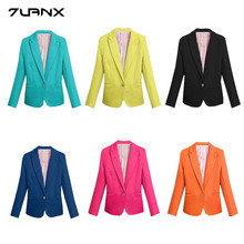 NEW 2018 Spring Autumn Blazer Women Suit Foldable Brand Jacket Made of Cotton Spandex Ladies Refresh