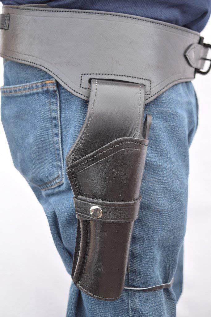 Pistolera y cinturón estilo vaquero occidental, soporte de pistola, 44/.45 Cal, barril largo estándar