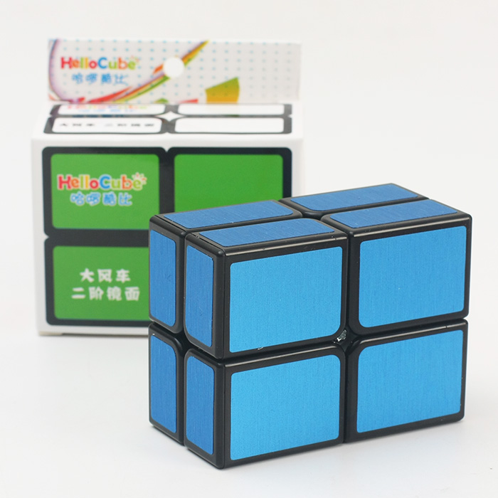 Brand New HelloCube Flat 2x2 Mirror Cube Brushed Magic Cube Puzzle 2x2 Speed Cube Cast Coated