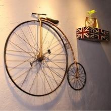 Victory Vintage Bicycle Wall Art / Penny Farthing High Wheel Bike Metal Decor / Iron Made 102cm(40″) Length x 78cm(30″) High