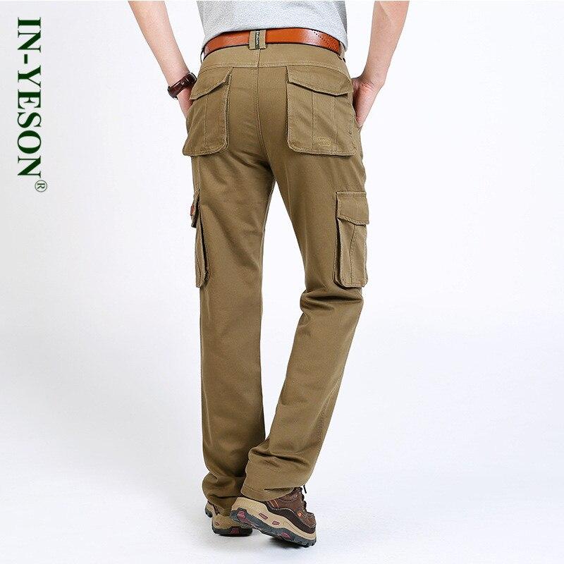 Hosen 2018 Neue In-yeson Marke Cargohose Männer Military Style Taktische Hosen Gerade Baumwolle Multi Taschen Männer Hosen Pantalon Homme Klar Und Unverwechselbar