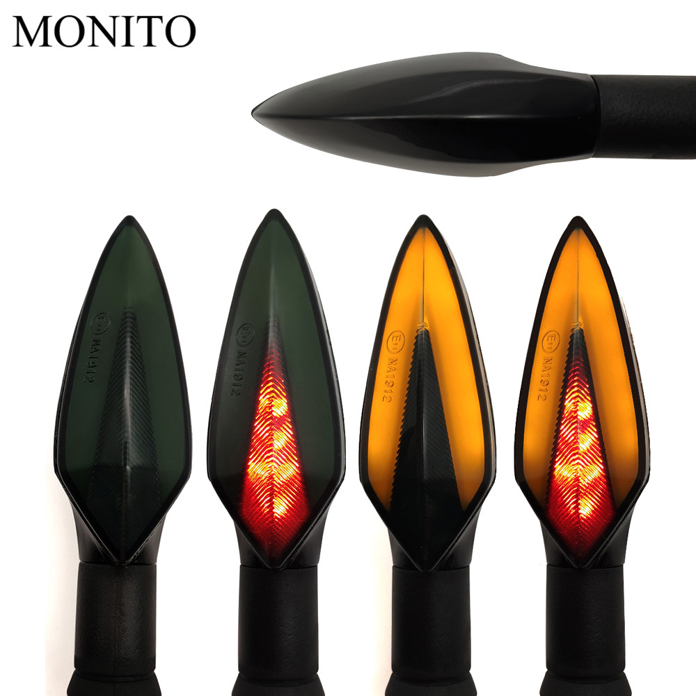Motorcycle Turn Signal Lights LED Indicators Tail Flashers Amber Red Lamp For YAMAHA XMAX 125 250 300 400 Iron Max NMAX 125 R120