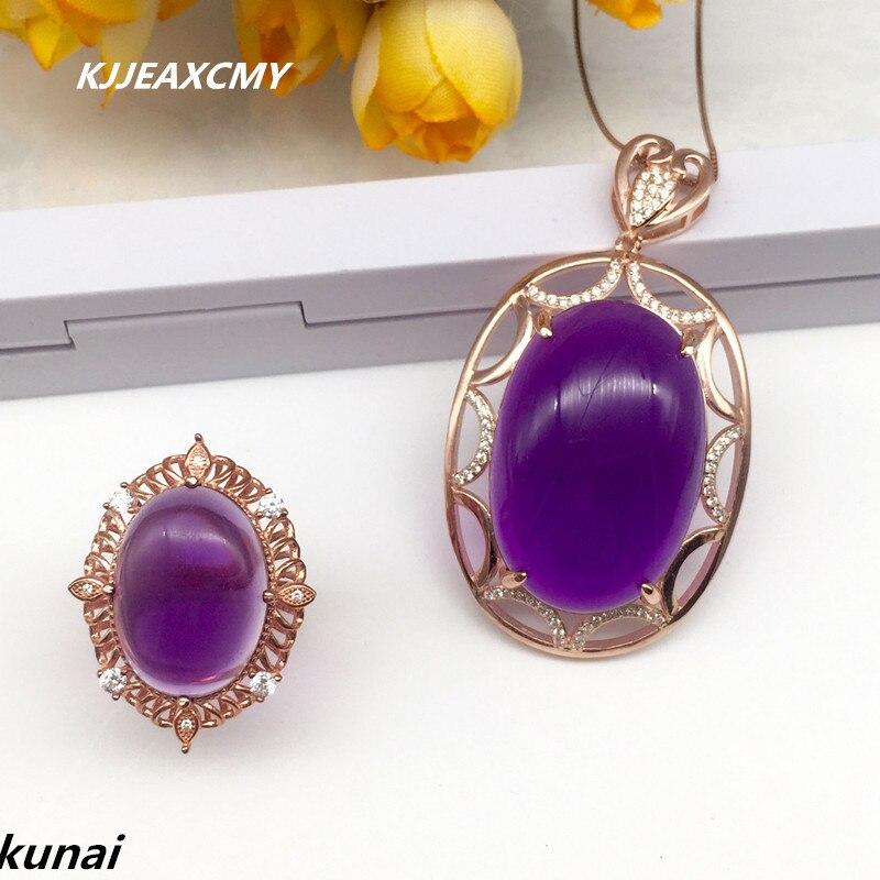 KJJEAXCMY Fine jewelry, Fashion 925 silver set Amethyst wedding jewelry women's Suite