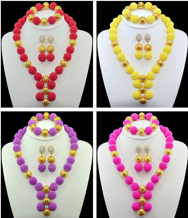 Multicolor a universal African beaded jewelry suit the arrival of the latest bridal bridesmaid dress accessories jewelry sets the wedding dress 300 years of bridal fashions