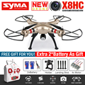 2016 NEW SYMA X8HC RC Quadcopter RC Drone With 2MP Camera HD 2.4G 6Axis Dron RTF RC Helicopter With 3 Battery VS MJX X101