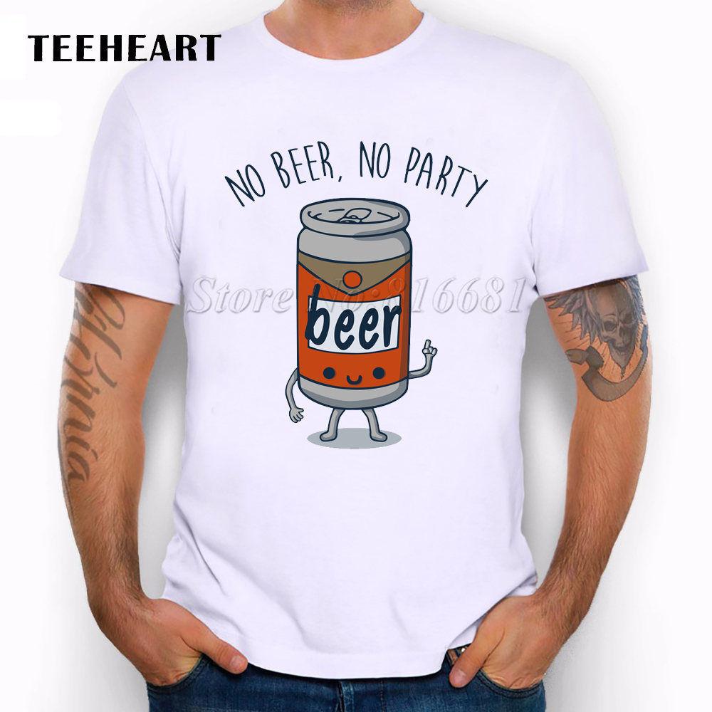 No Beer, No Party Cool Message Beer Shop Funny Joke Men T Shirt Tee