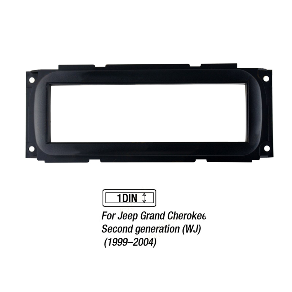1 Din Car Radio MP5 Frame for Jeep Grand Cherokee1999~2004 Fascia Installation Kit Cover Trim Auto Stereo DVD MP3 Player Fascias image
