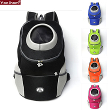 Bag for Dogs Travel Double Shoulder Backpack Dogs Bag Carrying Bleathable Mesh Pet Carrier Dog front Chest Backpack for Hiking