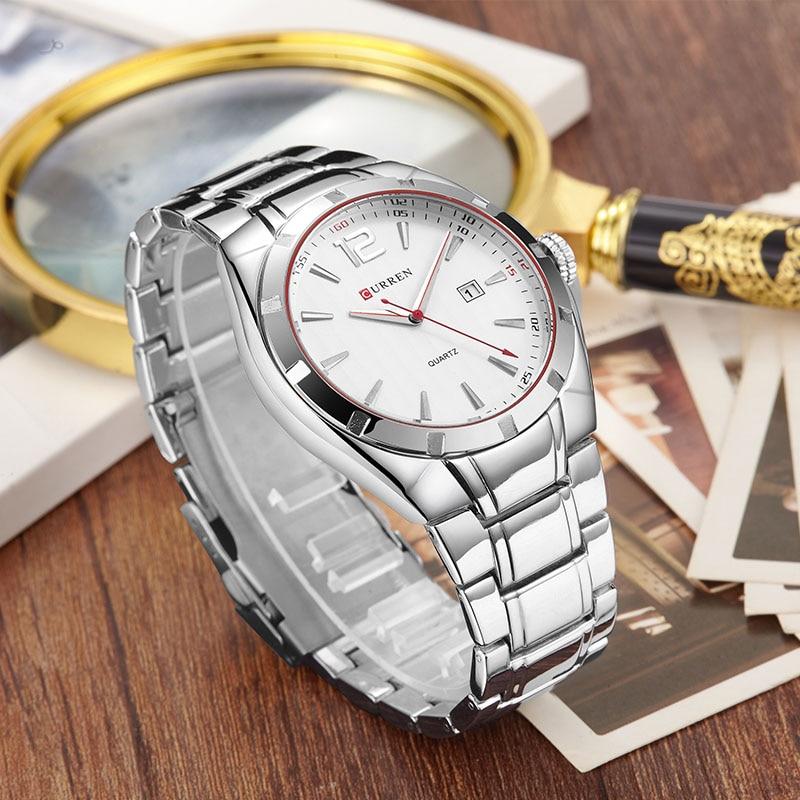 2017 CURREN Orologi da uomo Top Brand Luxury acciaio inossidabile - Orologi da uomo - Fotografia 4