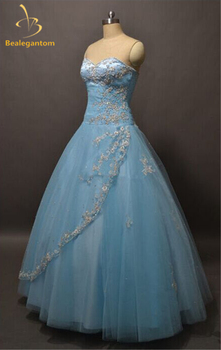 Hot Sale New Sexy Lace Quinceanera Dresses 2019 Ball Gown Beads Sweet 16 Dresses For 15 Years Vestidos De Quinceanera QA553