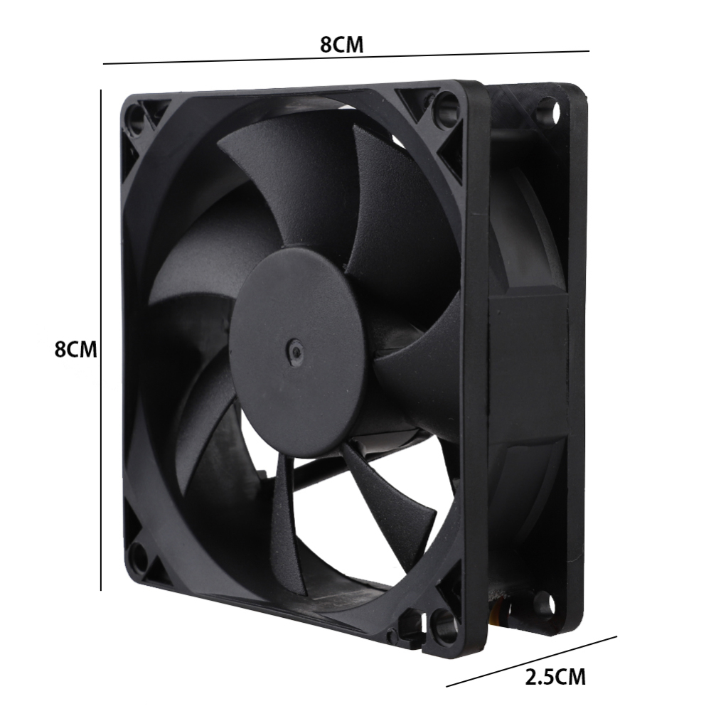 Areyourshop 1PC 12V 0.2A Cooling Computer Fan Ball Bearing 70/×25mm DC Brushless 2 Pin