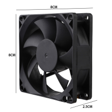 цена на 70/80/90mm Fan Cooler 3Pin 12V Computer PC CPU Fan Silent 8025 7-Blade PC CPU Cooling Fan for Video Card