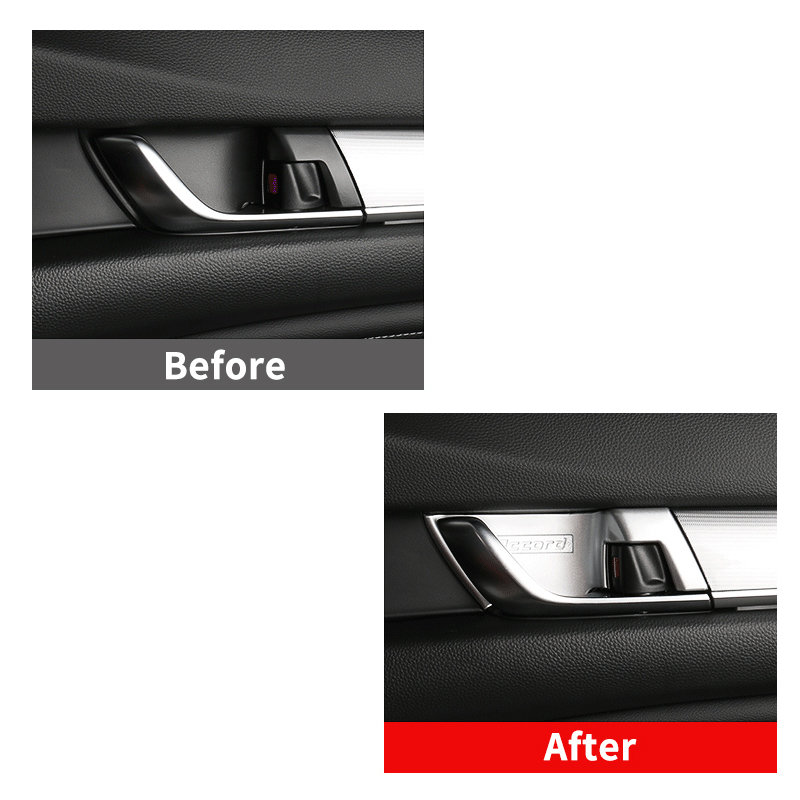 Image 3 - ABS Chrome Car styling Inner Door Handle Bowl Cover Trim Stickers Interior Moulding For Honda Accord 10th 2018 Accessories-in Interior Mouldings from Automobiles & Motorcycles