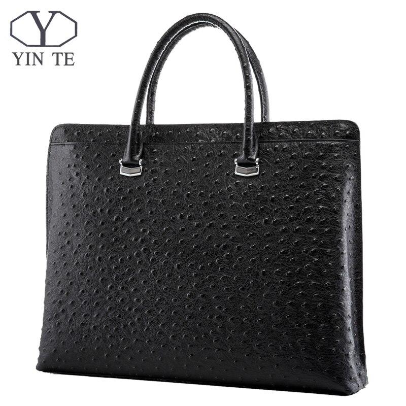 YINTE Fashion Men Briefcase Genuine Cow Leather Messenger Bags Business Men Handbags Men Totes Casual Male Bag Portfolio T8650-5 цена и фото