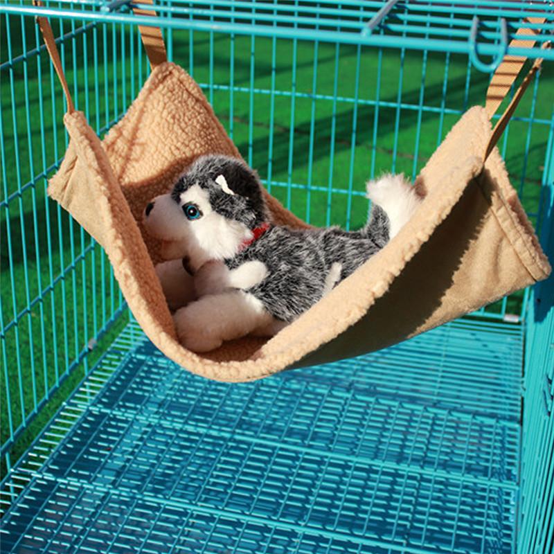 de color marrn claro small pet cat perros sof columpio hamaca bolsa de dormir para silla