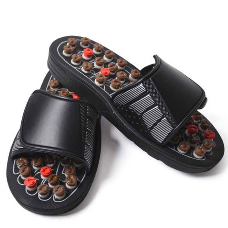 Image 2 - Feet Massage Slippers Acupuncture Therapy Massager Shoes Foot Acupoint spine shiatsu Reflexology Feet Care Massageador Sandal-in Massage & Relaxation from Beauty & Health