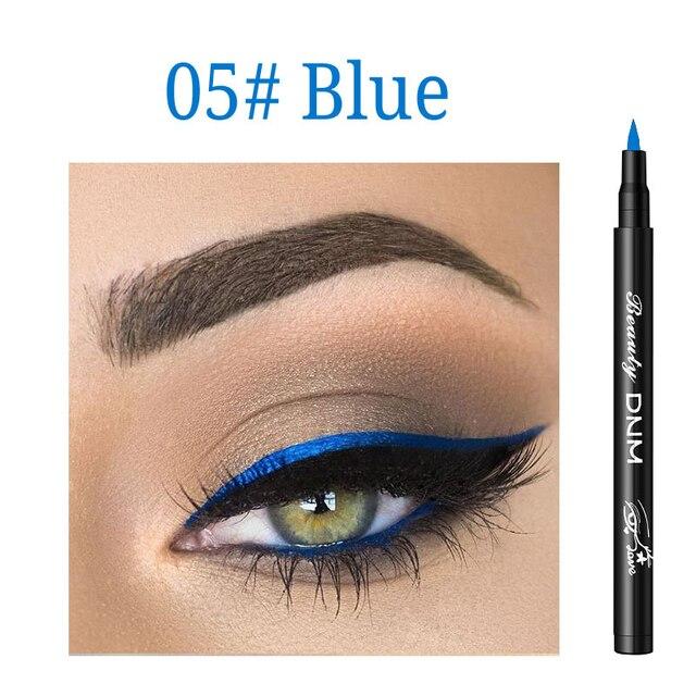 12 Colors Liquid Eyeliner Pencil Waterproof Make Up Eye Liner Pen Matte Black Red Green Colorful Liners Eyes Makeup Long Lasting 4