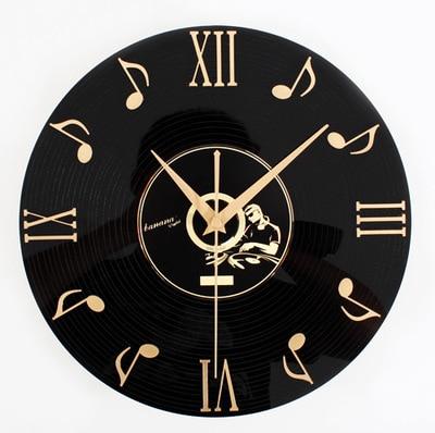 TUDA Free Shipping 12 Inch Nostalgia 3D Stereoscopic Vinyl CD Wall Clock Exquisite Wall Clock Fashion Home Decor Wall Clock