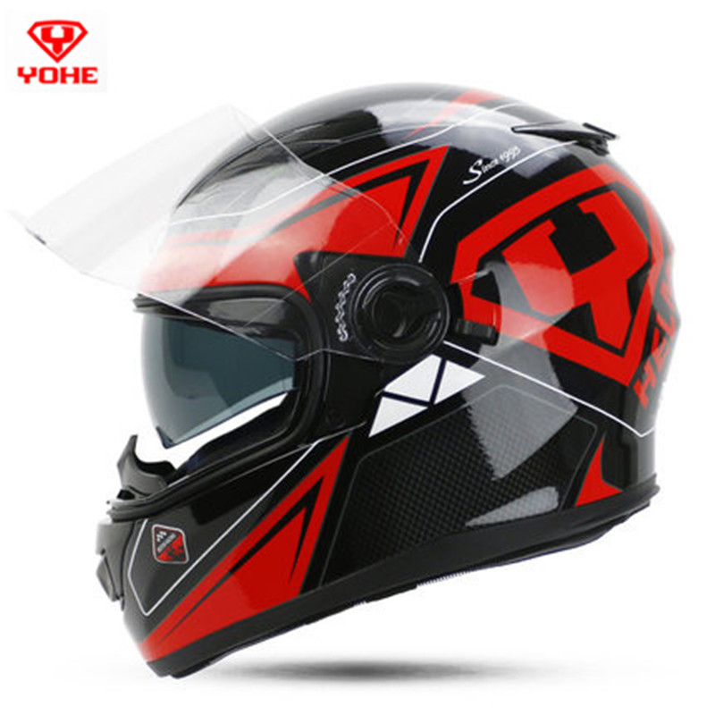 Best yohe 970 dual lens full face motorcycle helmet man for Best helmet for motor scooter