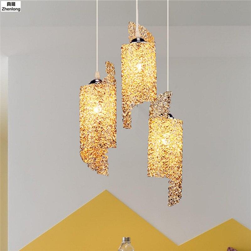 LED lustre lumière E27 ampoule 110 V 220 V chambre lumière en aluminium éclairage lampe à suspension