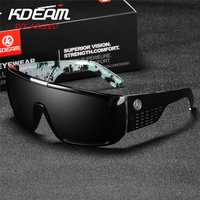 Windproof Design New 2019 Polarized Men Sport Sunglasses Eyewear Women Over sized UV400 mirror With Case Brand KDEAM KD2514