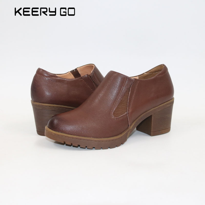 New high-end leather leather shoes all-match classic comfort inside Comfortable women's shoes High quality single shoe the first layer of leather shoes and a pedal comfort all match full leather comfortable foot leather bottomed women shoes