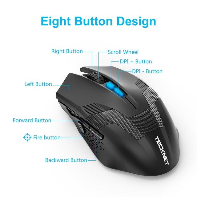 TeckNet Ergonomic Wireless Gaming Mouse 5