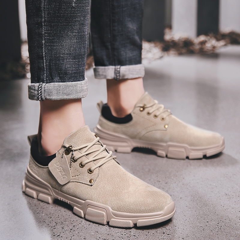 Designer Genuine Leather Men Shoes Lace Up Flats Footwear Outdoor Shoes Sneakers Quality Moccasins Casual Shoes Dropshipping in Men 39 s Casual Shoes from Shoes