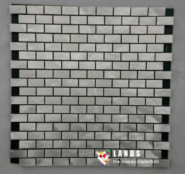 Aluminum mosaic Silvery color modern design,kitchen backsplash wall metal wallpaper,Home Building DIY sticker material,LSALE10 45x200cm mosaic aluminum foil self adhensive anti oil wallpaper for kitchen wall sticker diy decals high temperature resistant