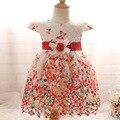 Baihui 2017 mariposa del verano crochet girls princesa dress dress velo niños bebé de los niños de flor de la correa del arco