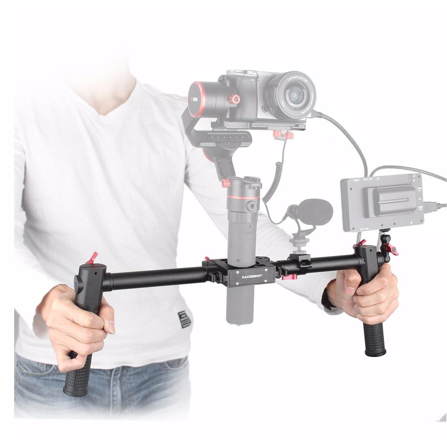 Dh-1 dual handle Gimbal Grip para zhiyun Crane 2/grúa v2/feiyu a1000/a2000, mano Agarraderas para estabilizador