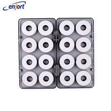 Enjort  Main fishing line shaft box coil box accessories boxes storage circular shaft fishing tackle fish gear 16 in 1 set