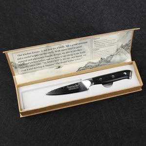 "Image 5 - SUNNECKO Premium 3.5"" inch Paring Knife Damascus Steel Kitchen Knives Japanese VG10 Blade Razor Sharp Fruit Cutter G10 Handle"