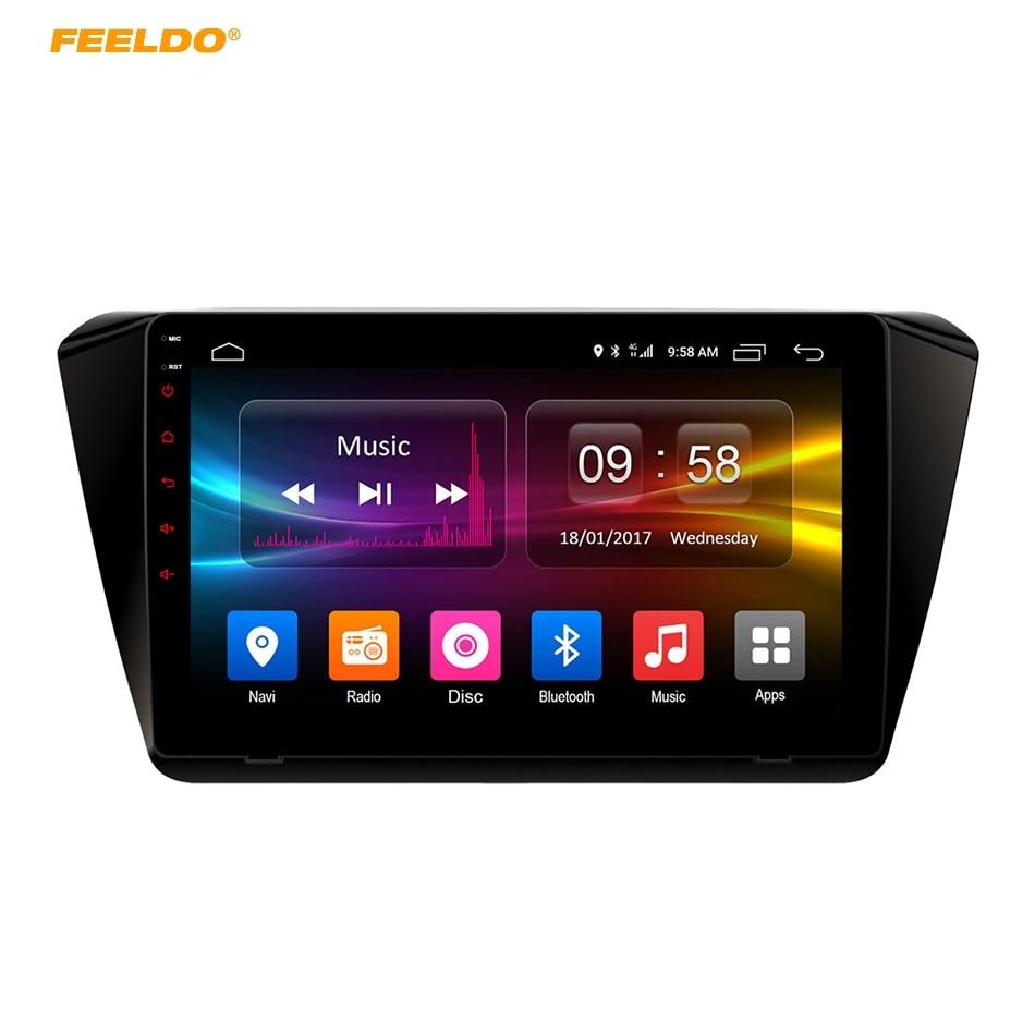 FEELDO 10.1 inch Android 6.0 (64bit) Octa Core DDR3 2G/32G/ FDD 4G Car DVD GPS Radio Head Unit For Skoda Superb 2016