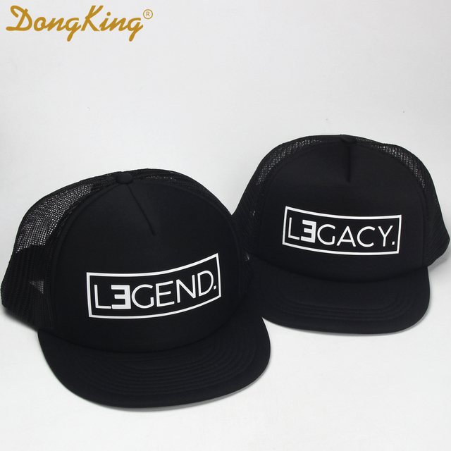 DongKing Trucker Hat LEGEND Hats LEGACY Print Cap Father Son Trucker Dad  Gift Daughter Kids Child 297582d0dd3