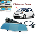 "For byd f0 Car DVR Rearview mirror video recorder Car DVR FHD 1080P Dual Camera Novatek 96655 5"" IPS Screen Car Black box"