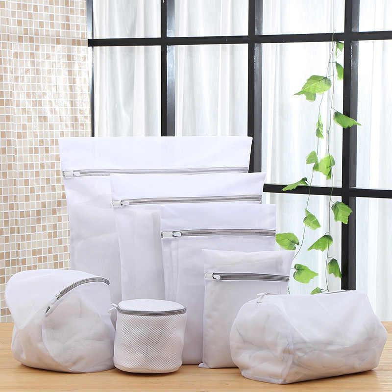 Sac de lavage en maille Fine   Épaissi, sac à linge pour Lingerie, soutien-gorge et sous-vêtements, ensemble de sacs de lavage pour Machine, sac en filet de lavage, nouveau 2019