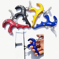 Compound Bow Release Aids Grip Stainless Steel 4 Fingers Archery Caliper Release Hunting Adjustable Trigger Tension