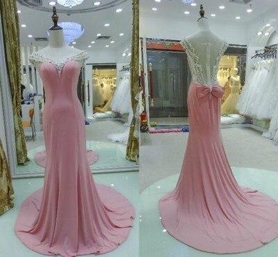 de8ae910a Elegante 2016 Moda Joven Encantadora Polvoriento Rosa Barato Largo Lindo  Vestido de Noche Nuevo diseño Vestido