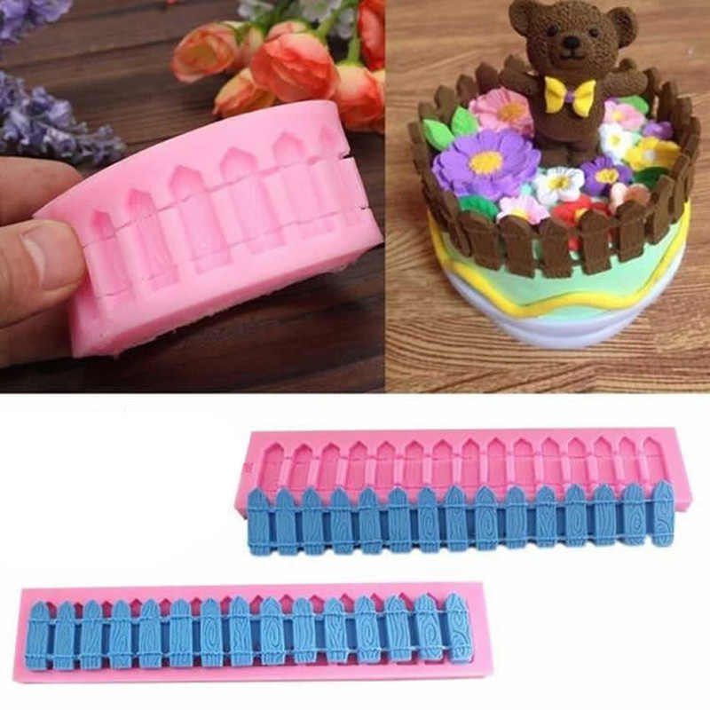 DIY Fence Silicone Mold Fondant Cake Baking Tools Silicone Moulds Pastry Sugercraft Cake Decorating Tools Silicone Bakeware