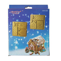 Christmas House Kit Chocolate DIY Gingerbread House Mold Baby Favorite Chocolate Design Silicone Mould Free