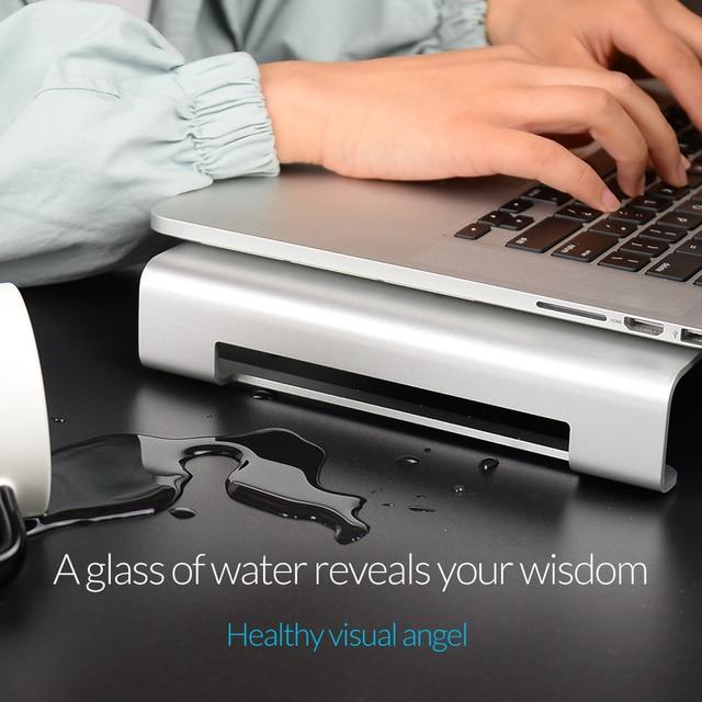 ORICO Aluminum Laptop Stand Desk Dock Holder Bracket for Apple iMac/Tablet/ MacBook Pro/PC/Notebook Base Portable Computer Stand 5